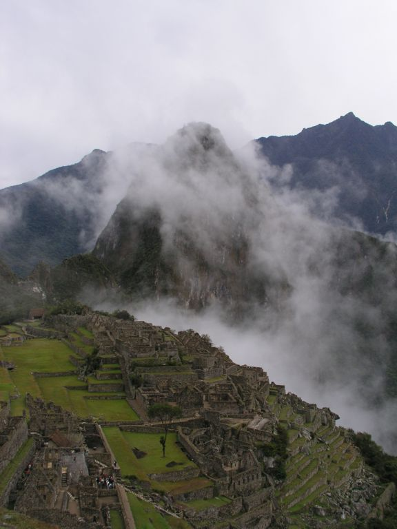 Machu Picchu, clouds and the Andes