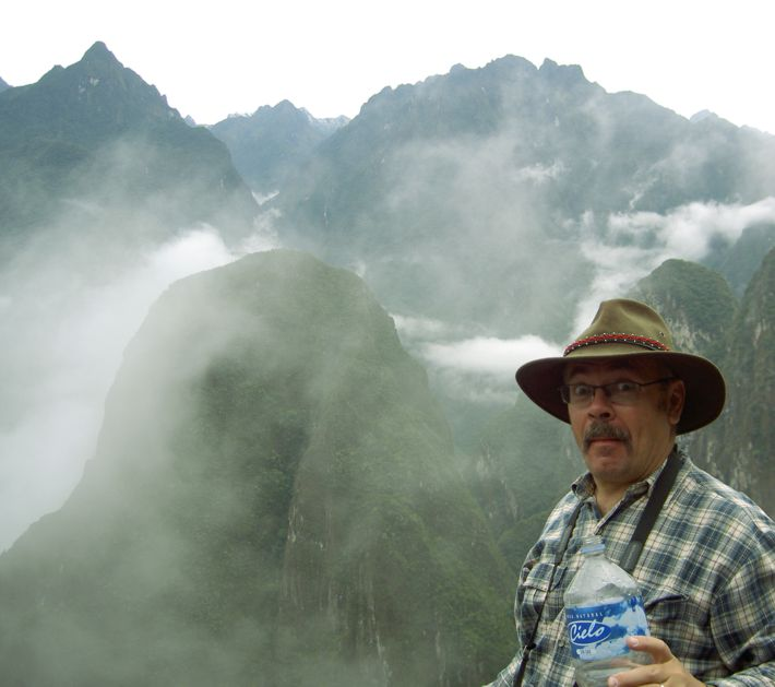 Me, Machu Picchu and clouds