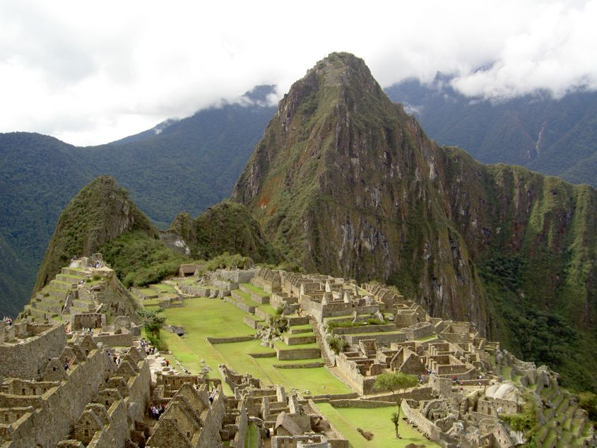 Classic view of Machu Picchu from the Inca Trail